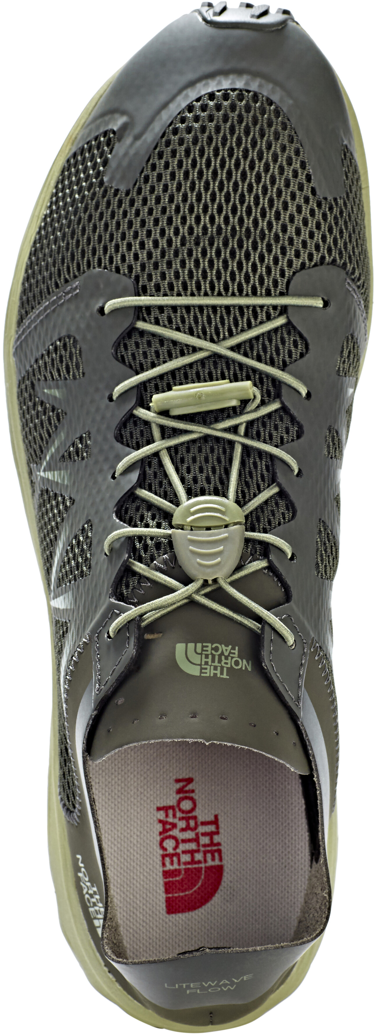 ea88f8183 The North Face Litewave Flow Lace Shoes Men black ink green/four leaf clover